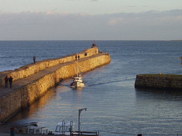 Breakwater at a harbour