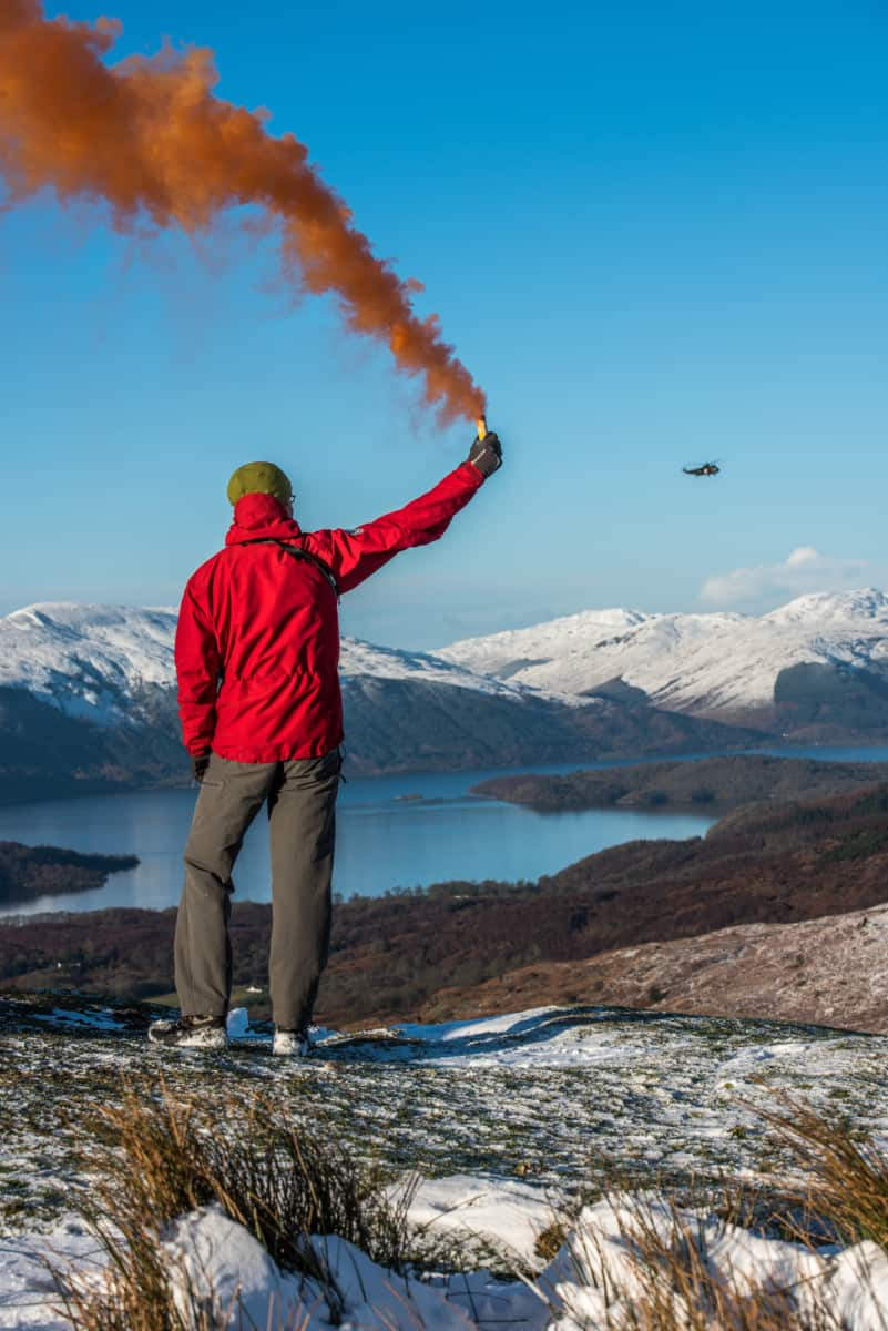 Using a smoke flare