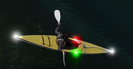Brite Strike Kayak or Paddleboard Waterproof Lighting Kit with 4 Lights