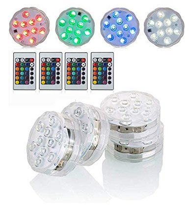 Submersible LED Lights with Remote Battery